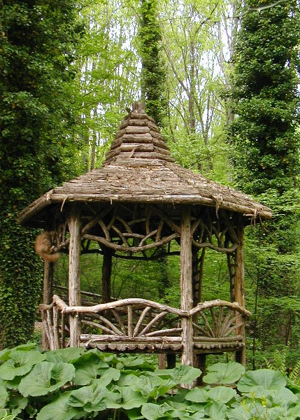 Bellewood gardens diary for Rustic gazebo plans