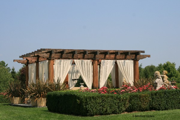 to see  a pavilion draped