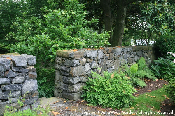 Best interior design house for Rock wall garden